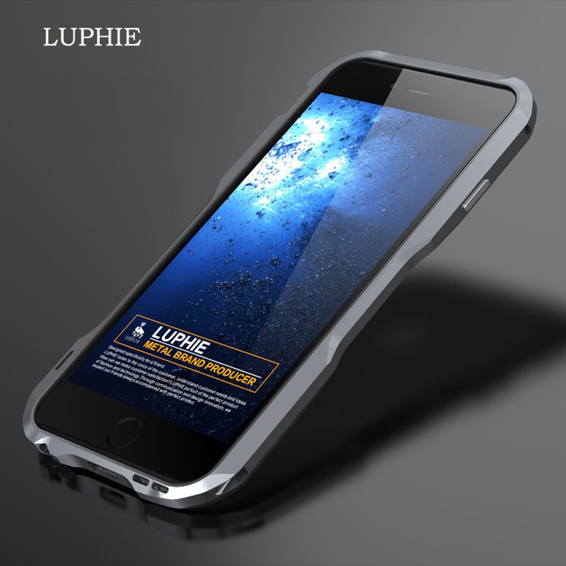 For iPhone 5s se Luphie slim Metal phone Bumper Case for iPhone 5 SE Aluminum Bumper Frame with Leather Back Cover