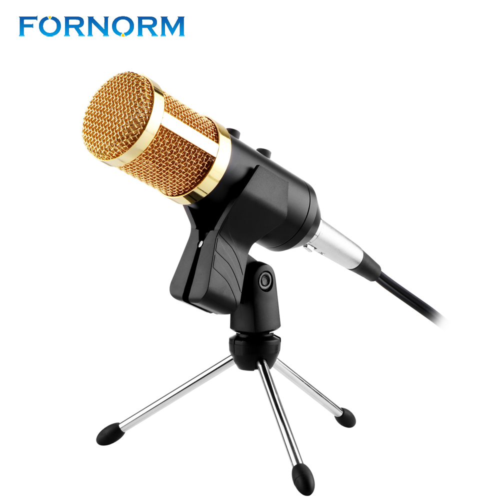 fornorm usb condenser professional microphone with volume adjustment reverberation for laptop. Black Bedroom Furniture Sets. Home Design Ideas