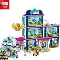Lepin 01039 And 41318 Heart Lake Love Hospital MiniBricks Girls Friends Series Set Sale Building Blocks