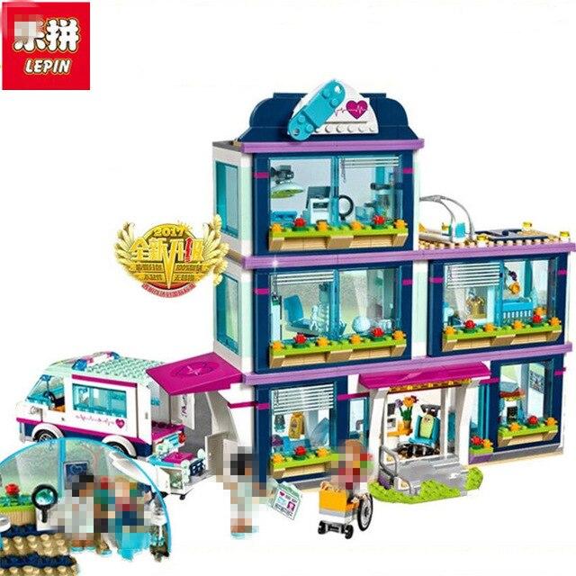 Lepin 01039 e 41318 Cuore Lake Amore Ospedale MiniBricks Amici di Ragazze Serie Set di Vendita di Blocchi di Costruzione Giocattoli Per I Bambini