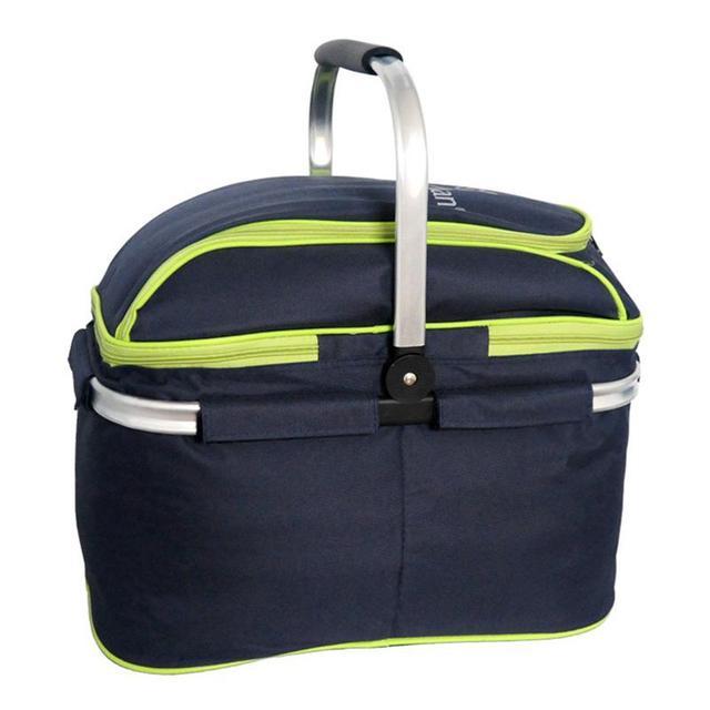New Picnic Basket Portable Folding Large Picnic Bag Basket Food Storage Bags Picnic Handbags Lunch Box