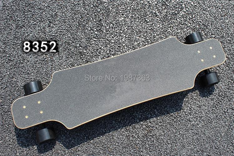 38 pouces professionnel planche à roulettes Fiber de verre + Bambo couche pont Longboard planche à roulettes Cruiser quatre roues danse de rue Longboard