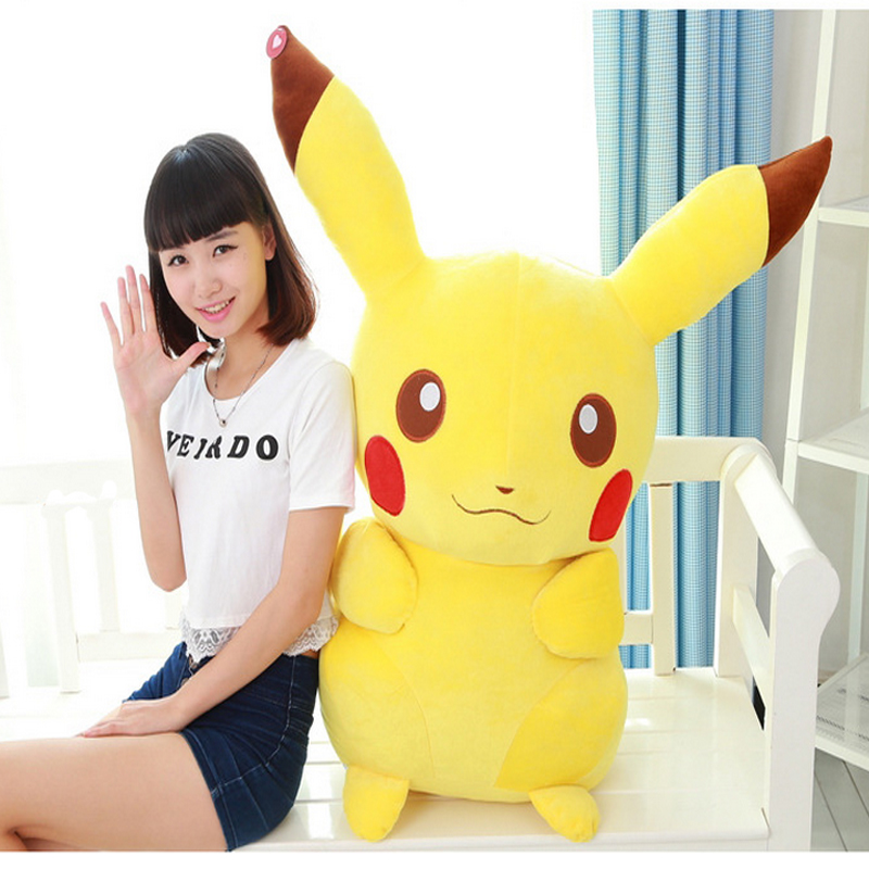 Fancytrader Giant Plush Pikachu Toy Stuffed 100cm Cartoon Anime   Doll Lovely Gift for Child