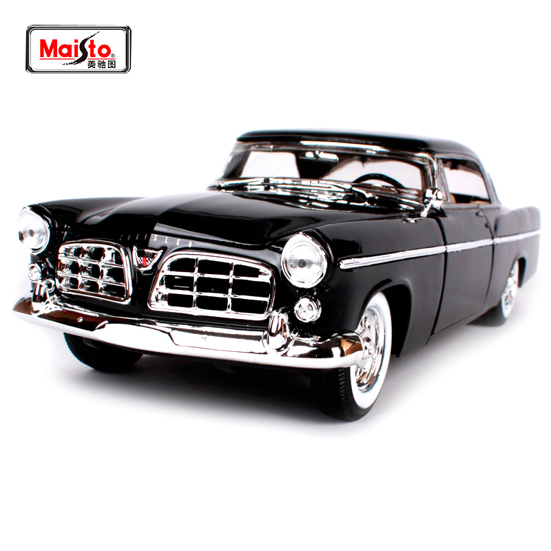 Maisto 1:18 Chrysler 300B Car model Retro Classic Car Diecast Model Car Toy New In Box Free Shipping 31897 maisto bburago 1 18 1959 jaguar mark 2 ii diecast model car toy new in box free shipping