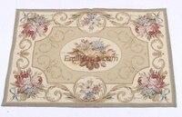 Genuine feito à mão oriental ponto de agulha tapete várias flores decorativo needlepoint casa decore lã tricô tapetes