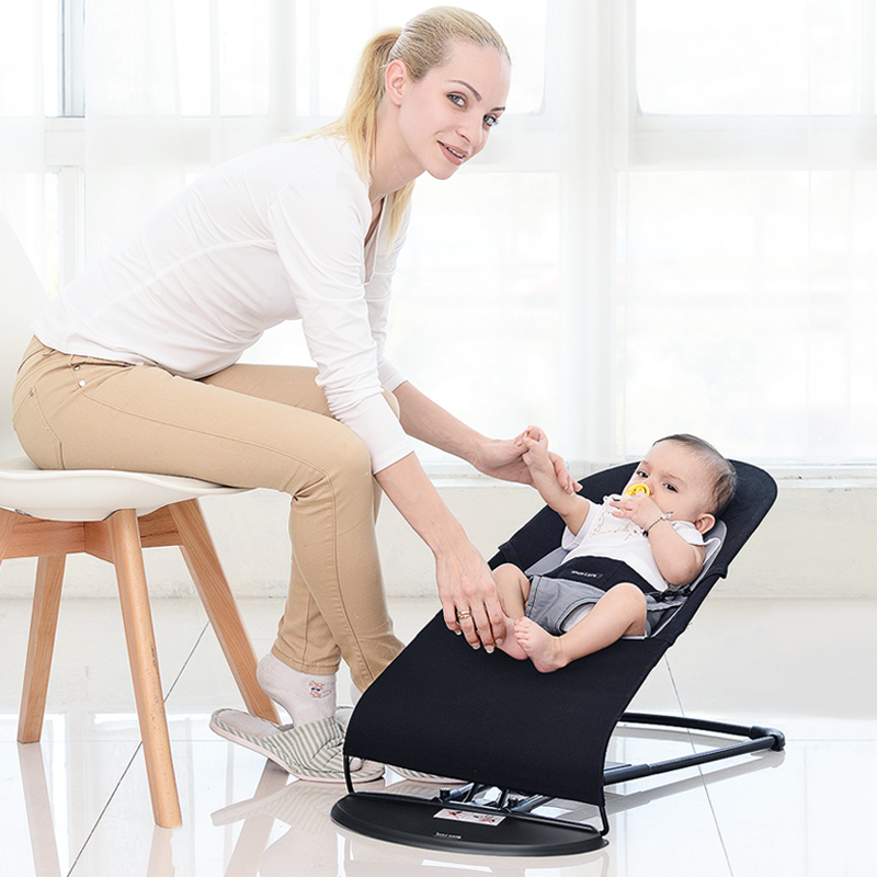 Babyfond Baby Cradle Rocking Cotton Chair Rocking To Sleep To Appease The Cradle For Children To Treasure To Sleep thicken steel frame baby electric rocking chair can appease baby to sleep prevent baby spitting milk baby chair can be cradle