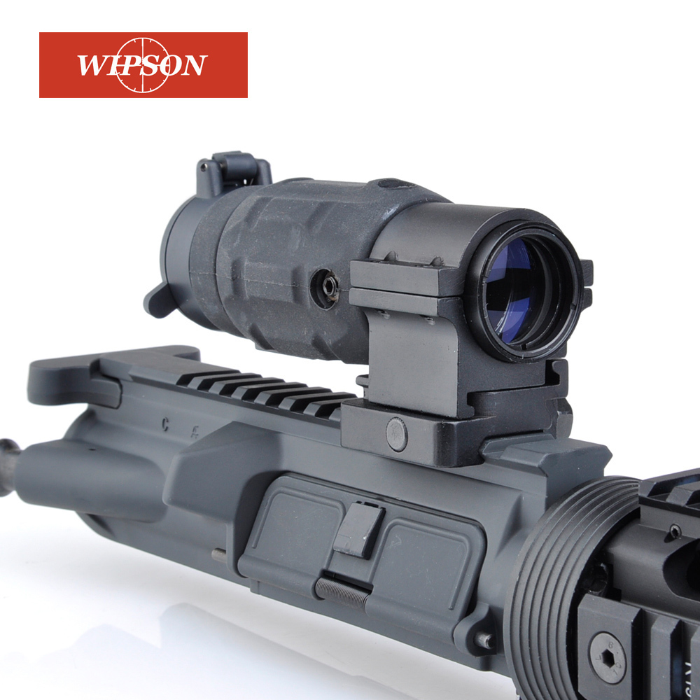 WIPSON Tactical Hunting Aim red dot optic sight Gun holographic Rifle Scope AP Style 3X Magnifier With QD Twist RIS weaver Mount wipson tactical optical sights riflescope xps 3 2 holographic red green dot scope sight with qd mount