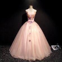 Strapless rosa quinceanera vestido 2019 tule flor 3d tule baile baile baile de formatura vestido formal 15 anos vestidos de quinceaneras