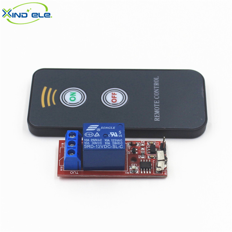 XIND ELE IR Universal Wireless Remote Control Switch DC 12V 1-way Infrared Self-lock Receiver Relay Module