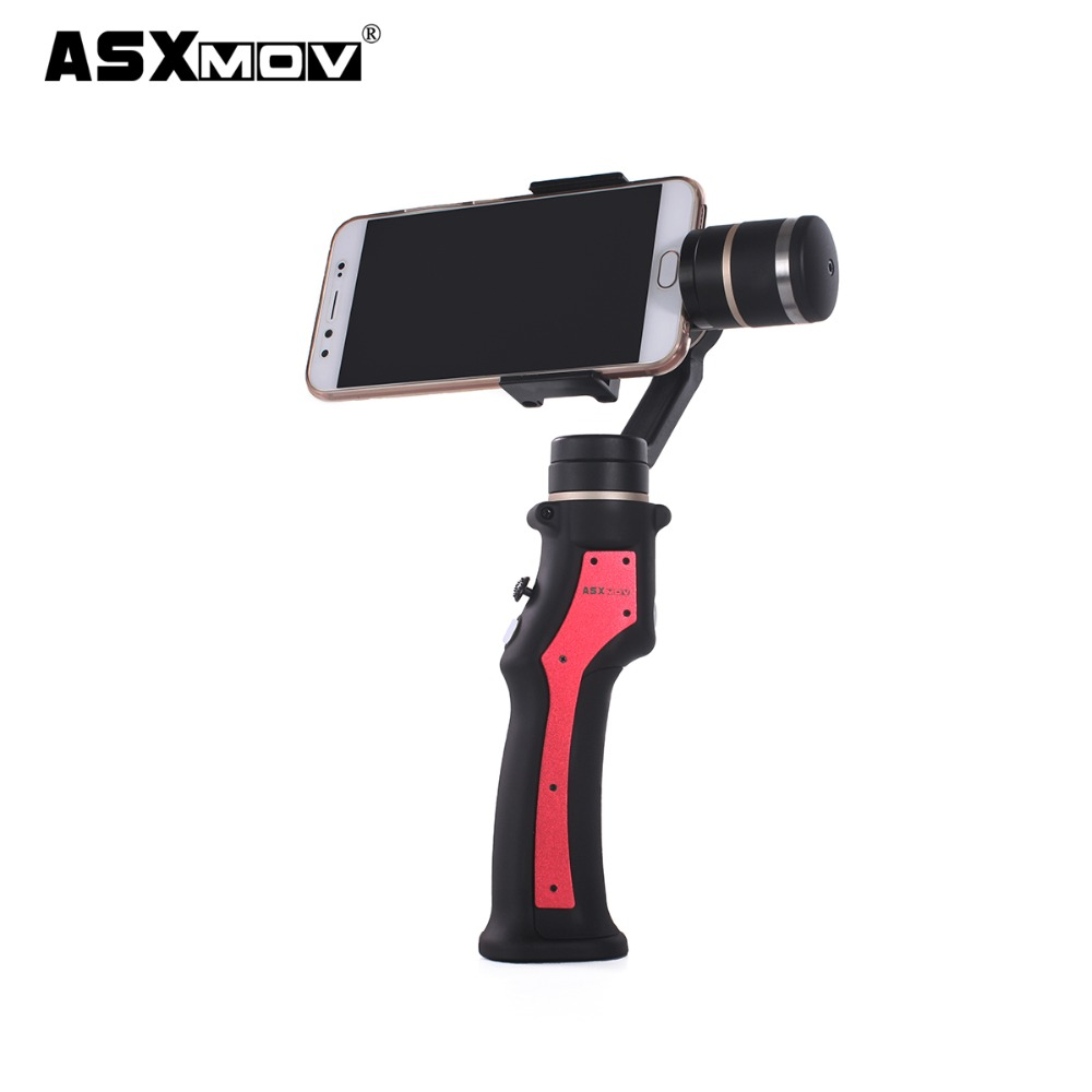 ASXMOV 3 axis Gimbal Camera Orientation red black handheld stabilizer For font b Smartphone b font