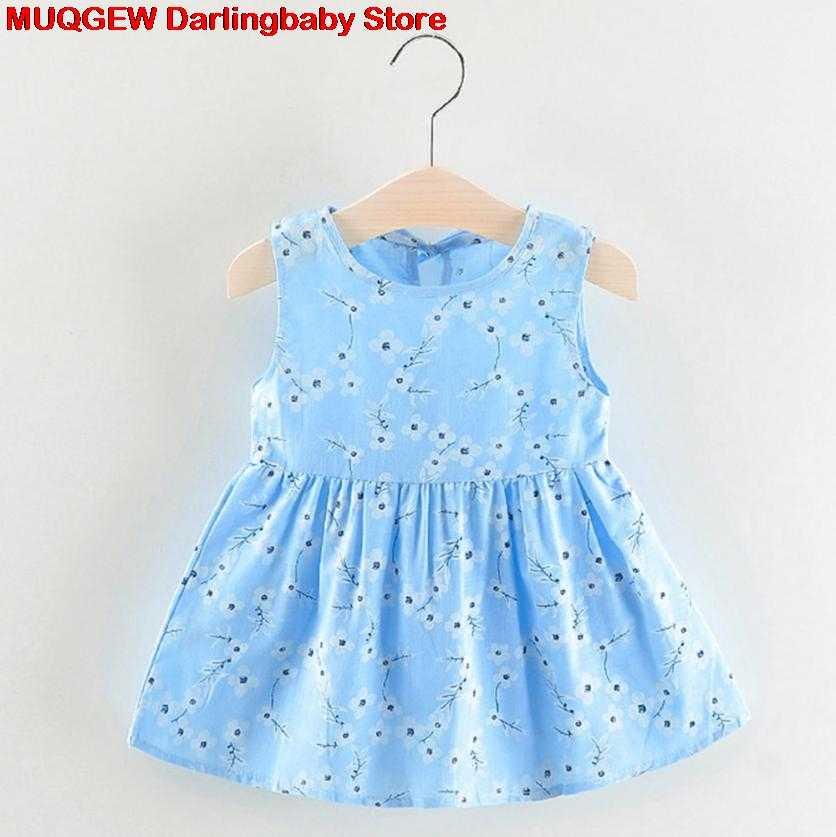 761d75de4 Recién nacido Ropa bebé vestido niña ropa flor imprimir princesa Casual  moda lindo hermoso traje Sundress