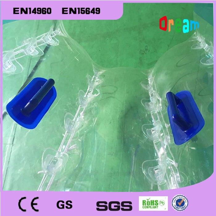 Livraison gratuite 1.5 m gonflable humain Hamster balle bulle Football bulle ballon Football Zorb balle PVC Transparent jeux de plein air jouets - 5