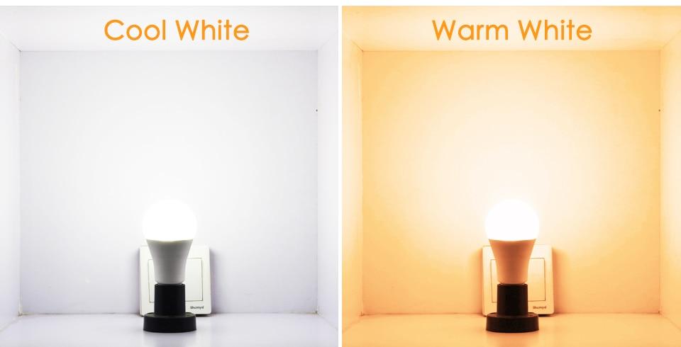 de cor regulável ios android led magia rgbw casa lâmpada