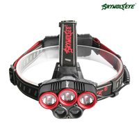 SKYWOLFEYE T6 XPE LED Headlamp Headlight 1500Lm Rechargeable Zoomable Outdoor Head Light Lamp 18650 Battery USB Cable Fishing