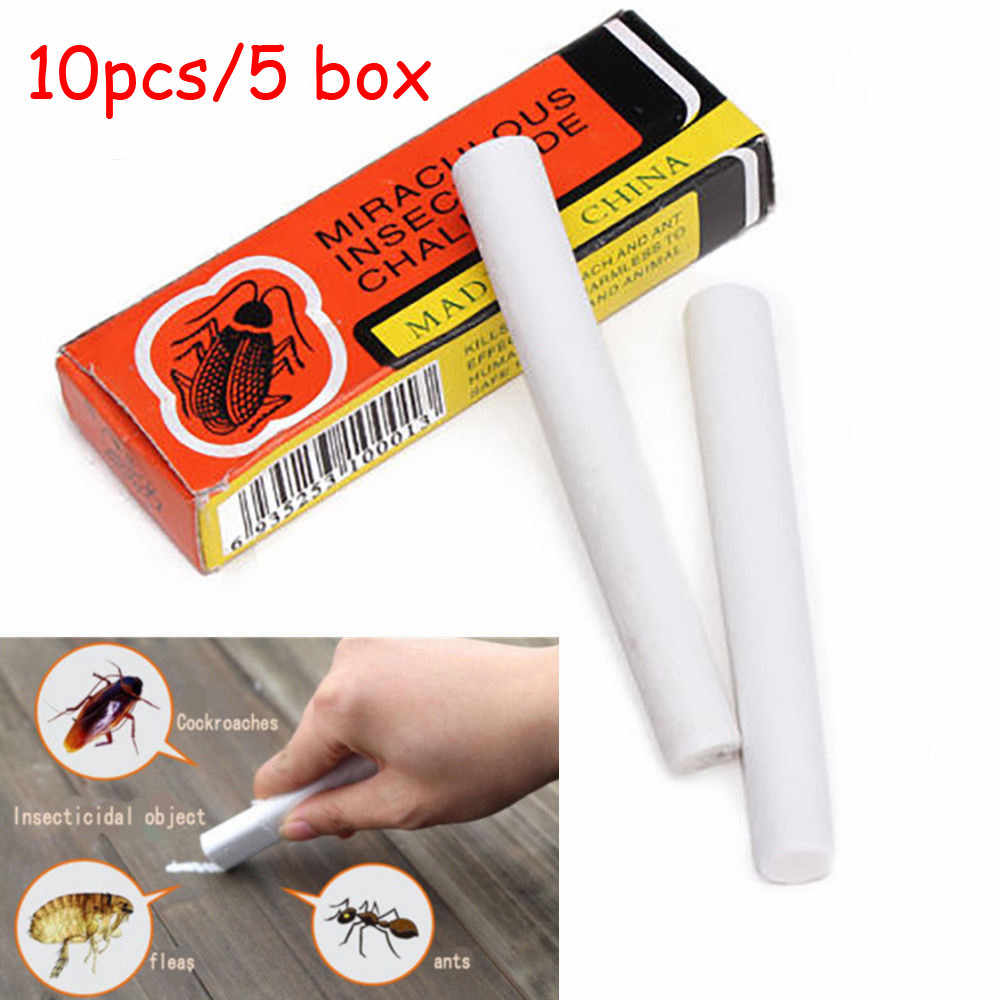 Insecticide 10Pcs Magic Insect Pen Chalk Tool Kill Cockroach Roaches Ant Lice Flea Bugs Insecticida 1.233