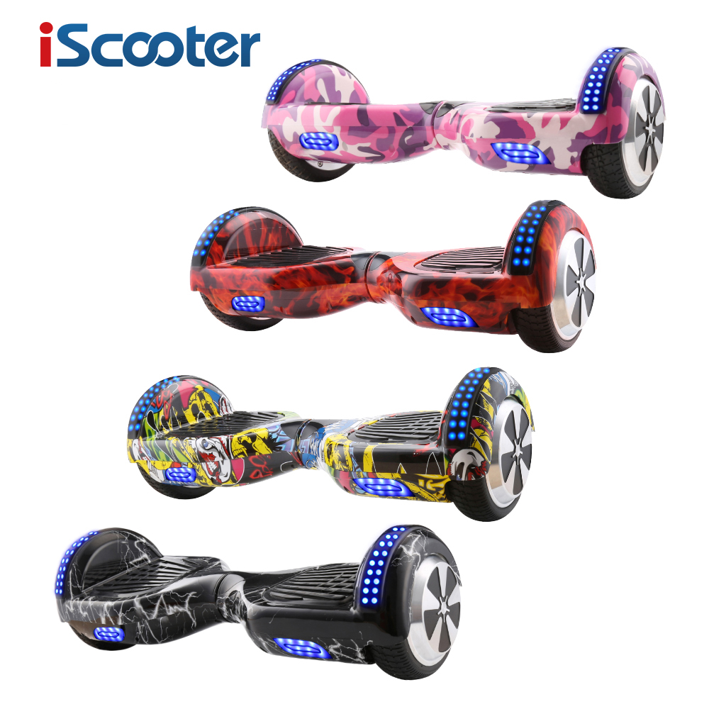 IScooter Hoverboard 6.5 pollice Bluetooth e Chiave A Distanza A Due Ruote Auto Equilibrio Scooter Elettrico di Skateboard Elettrico Hoverboard