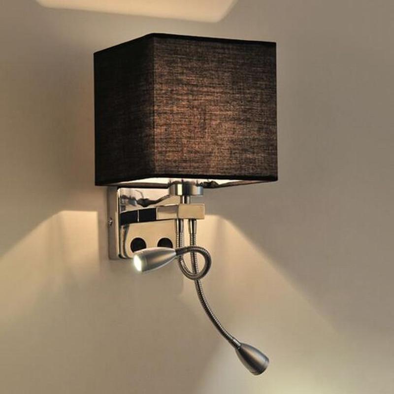 Brightinwd led современные ткани ночники с выключателем 220 В гостиная спальня проход балкон настенный светильник