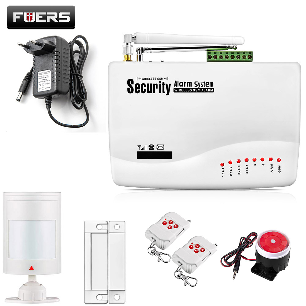 GSM10A English Russian Spansih Voice Prompt SIM Home Security GSM Alarm System Auto Dialing Dialer SMS Call Remote Control