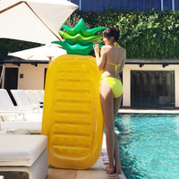 New Summer Beach Swimming Pool Float Mattress Inflatable Pineapple Lounge Seat Raft Floating Bed Air Mat Water Floating Game Toy