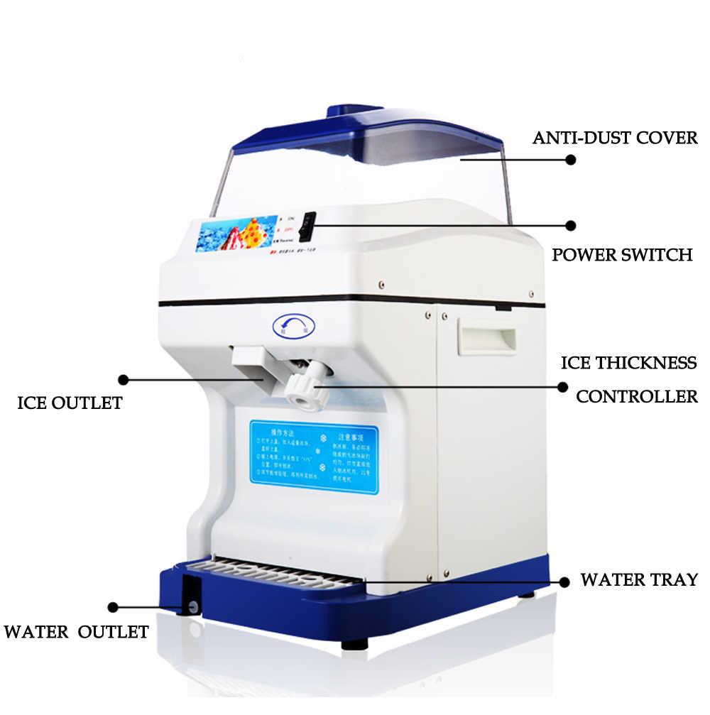 ITOP Comercial Triturador de Gelo Elétrico Barbeador 200kgs/h do Cone da Neve máquina de Fazer Gelo Máquina de Gelo Ajustável Espessura fabricante lamacento