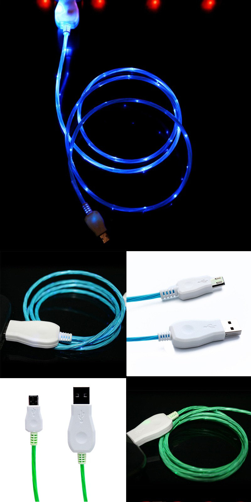 Usb Usb Kabel Fliegende Led Kabel Leuchten Ladekabel Led Micro Usb ...