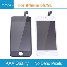 Класс AAA для iPhone SE 5SE ЖК-дисплей с сенсорным экраном планшета Ассамблеи Замена для iphonese белый/черный без мертвых пикселей