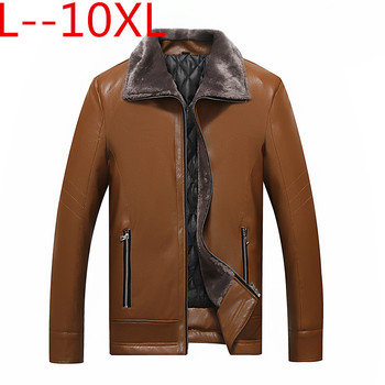 10xl 8xl 6xl Winter sheep leather men raccoon fur men high quality solid color thickening velvet leather coat outerwear parkas