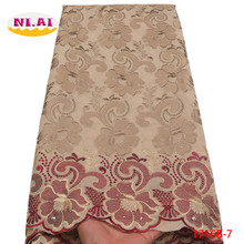 Swiss Voile Fabric Stones Gold-Trim Nigeria Laces Wedding-Na1716b-2 African High-Quality