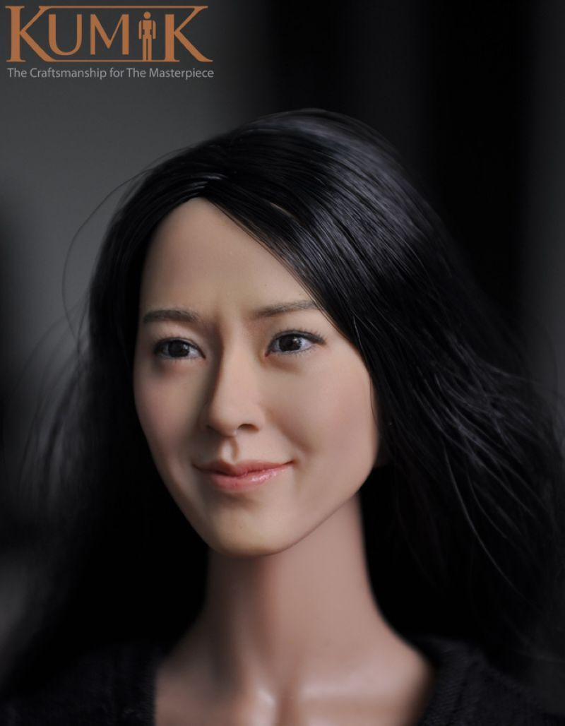 KM13-77 1/6  Head Carving Female Figure Head Juguetes Head Sculpt Bonecos Colecionaveis For 12 Action Figure Doll Toys 1 6 popular km 38 female head sculpt model with black hair for 12 female action figure body doll toys
