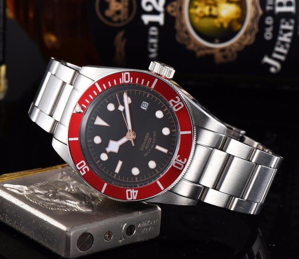 41mm Corgeut Black Dial Red Bezel Sapphire Glass Automatic Bracele Watch Men Q1141mm Corgeut Black Dial Red Bezel Sapphire Glass Automatic Bracele Watch Men Q11