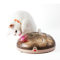 Magnetic Interactive Pet Cat Toys Automatic Rotating Cat Play Teaser Plate Mice Catch Toy Electric Playing Exercise Toys