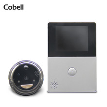 Cobell HD Battery WiFi Doorbell Cloud Storage 2.8 inch Door Peephole PIR Night Vision Video Intercom Support TF Card