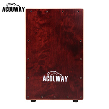 Drum-Box Hand-Drum Cajon Plywood Adult ACOUWAY Birch 8 with Alloy-Screws Adjustable Rubber-Feet