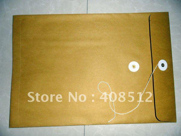 wholesale prices 500pcs kraft paper document bag eco friendly files