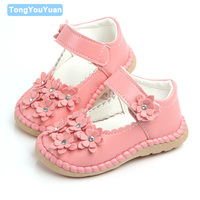 High Quality Beautiful Leather Flower Shallow Baby Girl Princess Shoes 1 3 Years