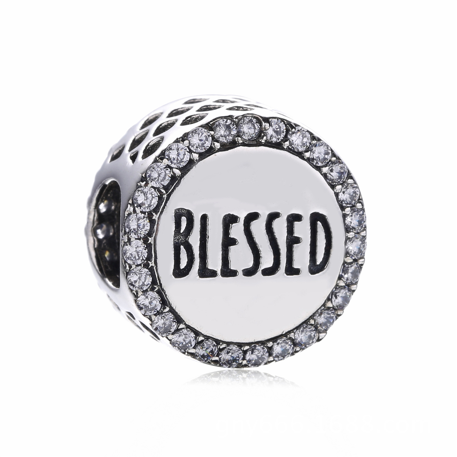 925 Sterling Silver BLESSED Charms Beads With Clear CZ Fits Original Pandora Charm Bracelet DIY Jewelry Gift For Family