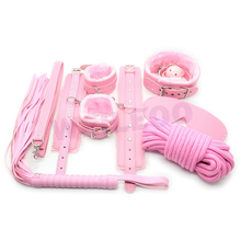 7 pcs kit bondage set sex dice game adult erotic toy adult game fetish slave bdsm bondage restraint adult sex toy for couple