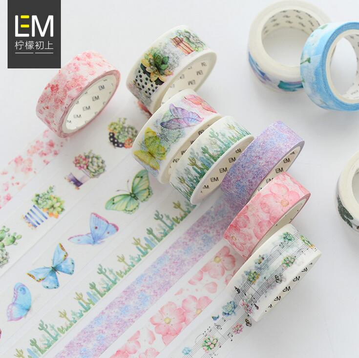 цена My Secret Garden Washi Tape Adhesive Tape DIY Scrapbooking Sticker Label Masking Tape