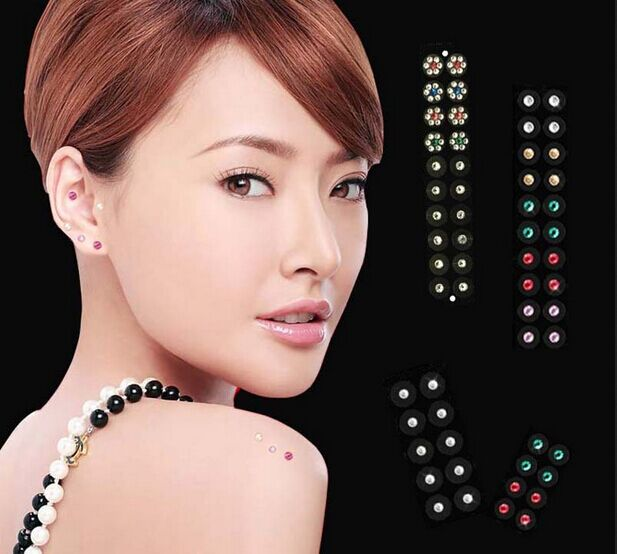 Weight Loss Magnet Colored Faceted Crystal Magnetic Ear Points