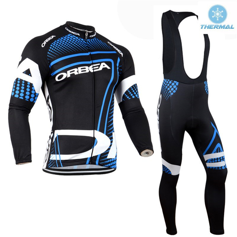 Winter Cycling Clothing Sets Thermal Fleece Long Sleeve Cycling Jersey Kit Maillot Ciclismo invierno Bicycle Jacket #DT-006 black thermal fleece cycling clothing winter fleece long adequate quality cycling jersey bicycle clothing cc5081