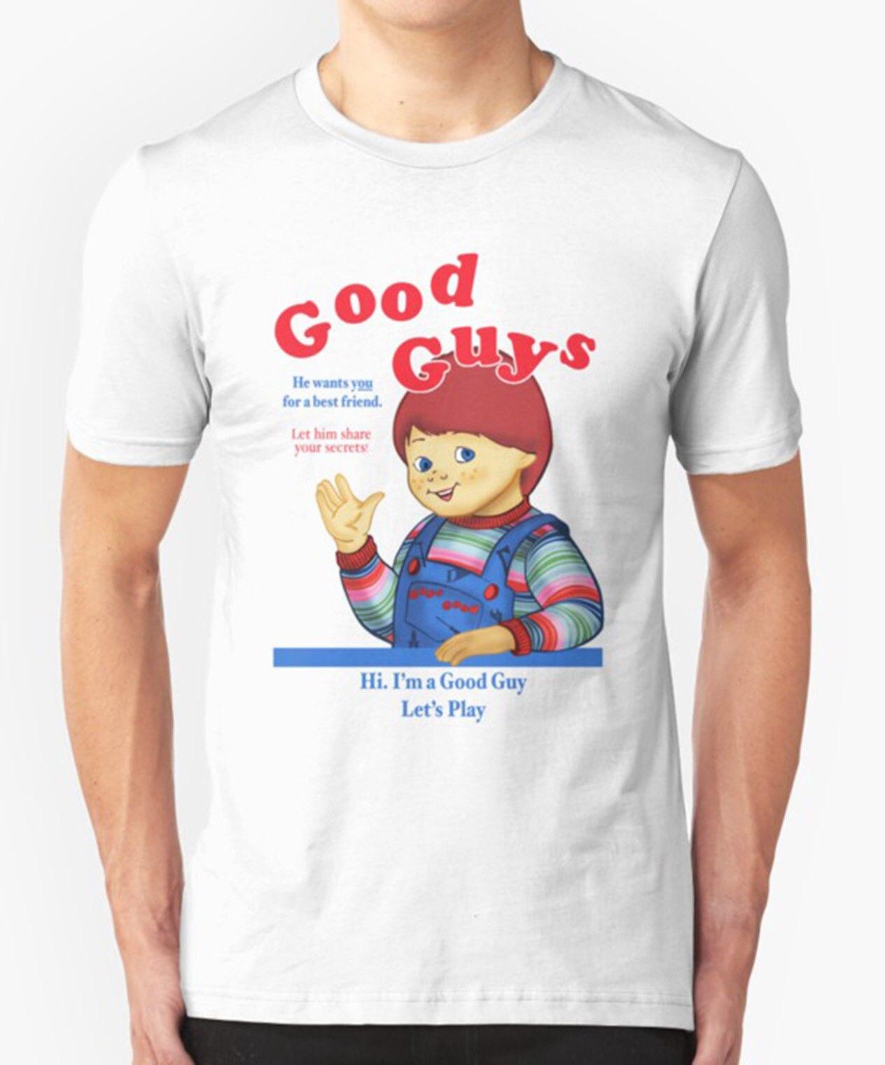 GOOD GUYS T SHIRT CHUCKY CHILDSPLAY HORROR CULT S MOVIE FILM - Good guy shirt