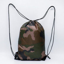 Oxford Drawstring Bags Camouflage Travel Women Men Unisex High Quality Drawstring Backpack