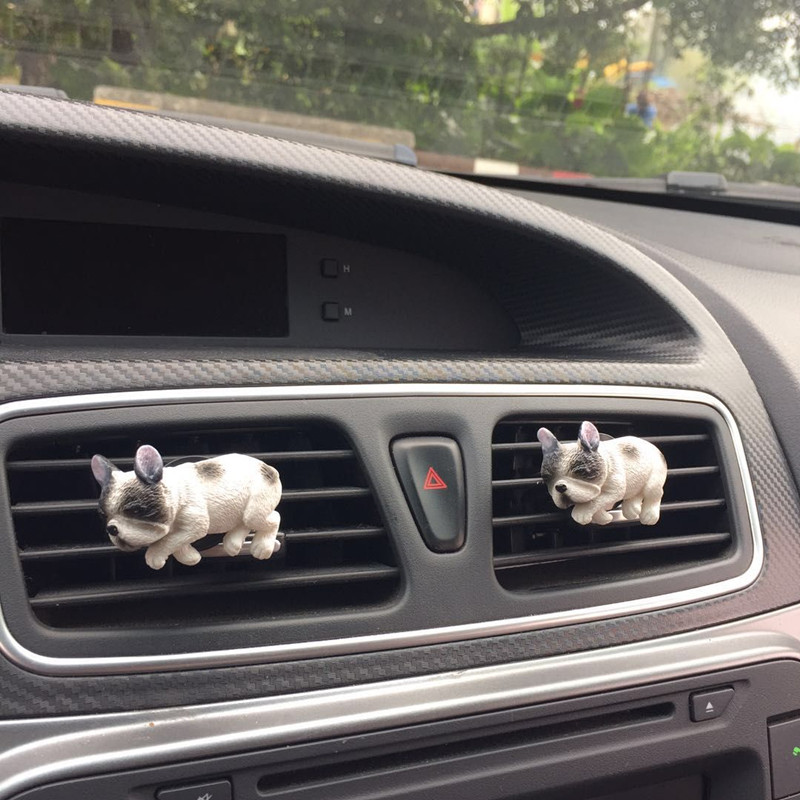 MR TEA Car styling Cute Dog Air Conditioner Outlet Perfume Puppy Pet  Auto Air Freshener Decoration Auto Fragrance Ornament