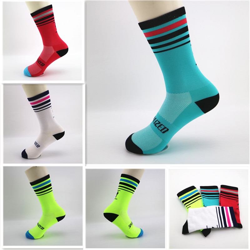 Brand New Women Men Sport Cycling Riding Socks Breathable Colorful Basketball Hiking Climbing Socks