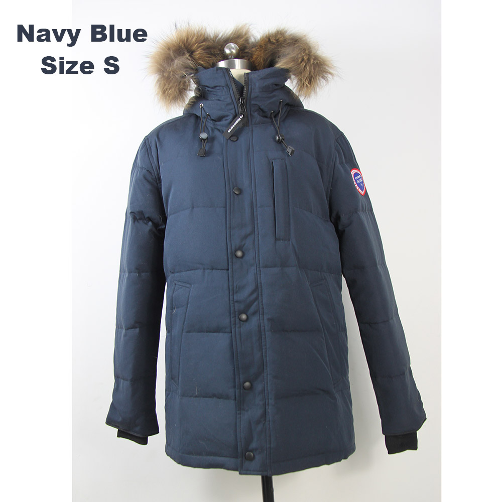 2018 Brand New Mens White Duck Down thick Winter Coat carson Parka with real reamovable raccoon fur