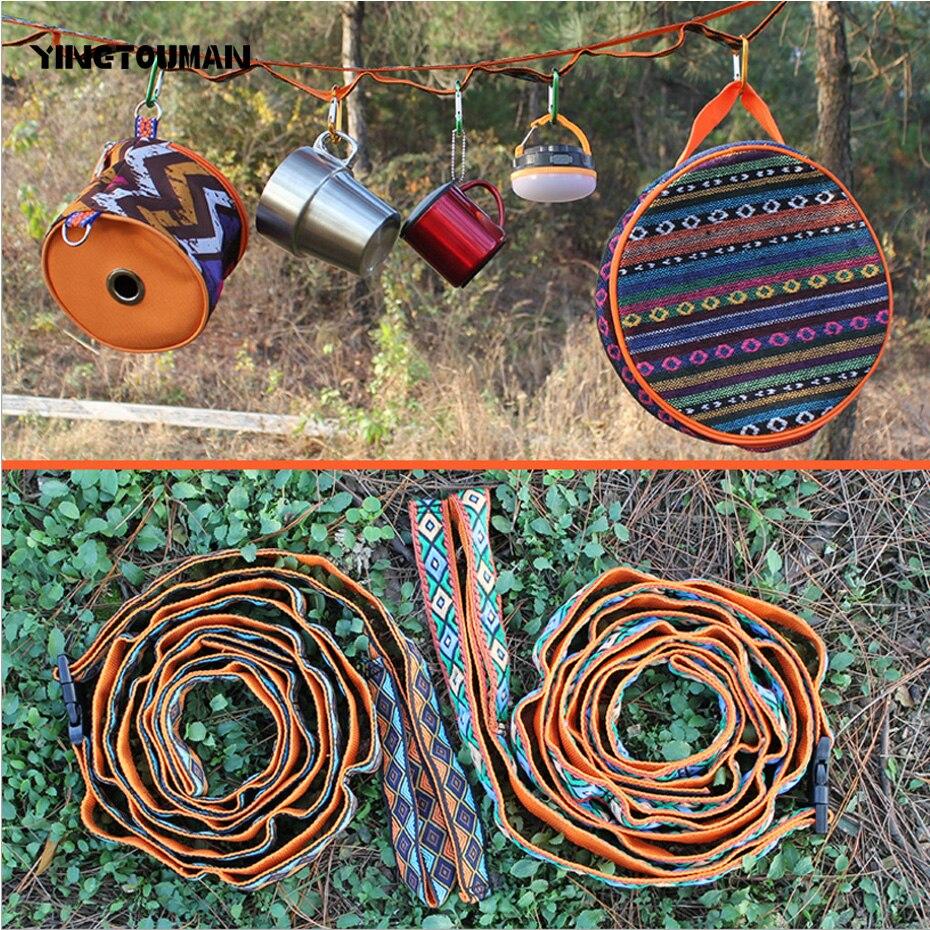 YINGTOUMAN New Camping Ropes Hang Rope Outdoor Multi-function Sling Elastic Decorate Lanyard Pocket Multi Camping Tools EDC
