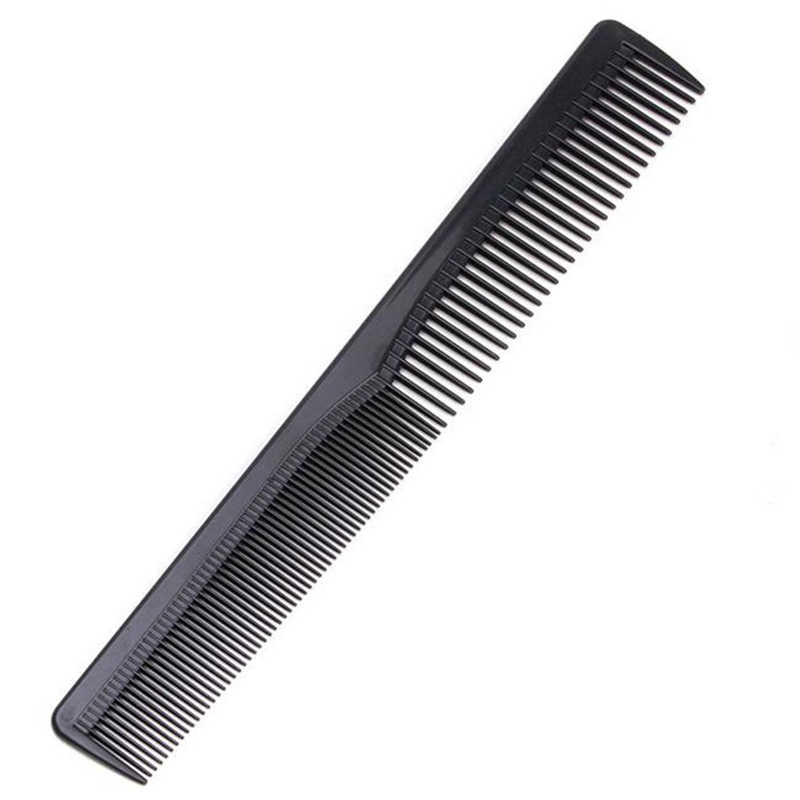 NEW Men Women Salon Black Plastic Cutting Hair Tooth Comb Barber Tool Hairdressing Hair Brush