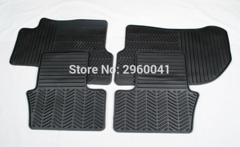 4pcs Car Styling Black Rubber Foot Mat Foot Pad for Jeep Patriot and Compass 2011 2012 2013 2014 2015 2016 for jeep compass 2011 2012 2013 anti slip rubber cup cushion door mat jeep patriot liberty 2014 accessories car styling sticker