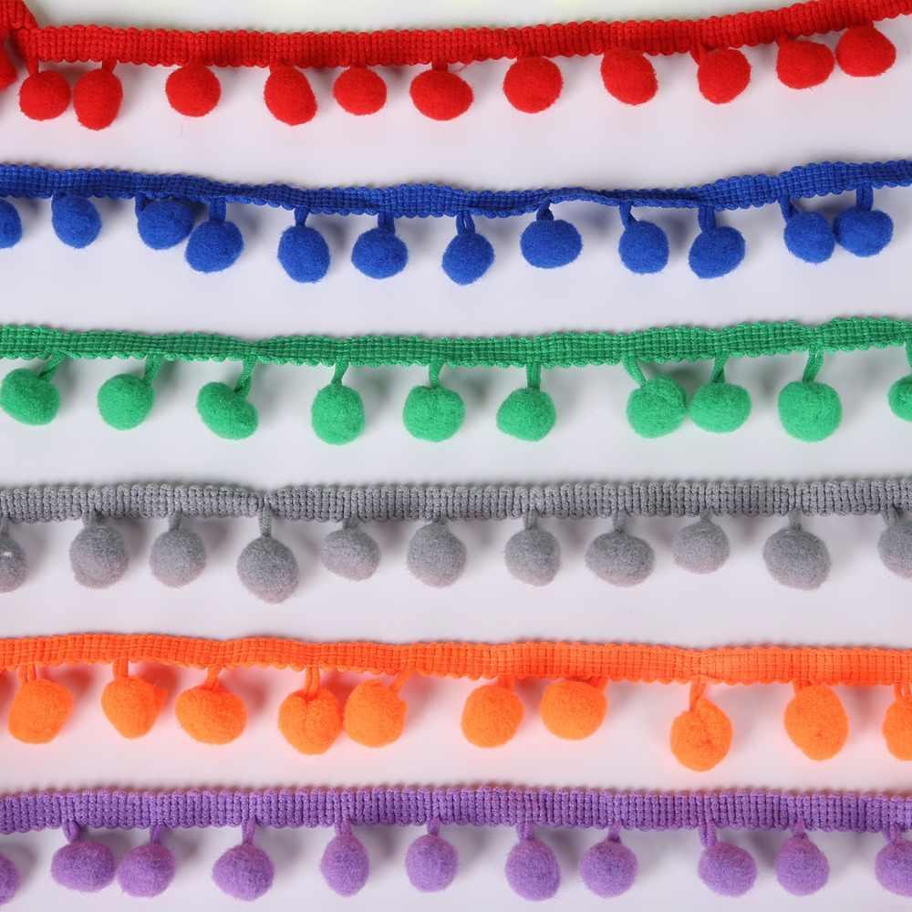5 ярдов помпон отделка шар 10 мм Мини жемчуг помпон бахрома лента шитье из кружева трикотажная ткань ручная работа, сделай сам, Ремесло АКСЕССУАРЫ