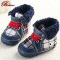 Baby Boy Обувь Марка Детские Первые Ходунки Обувь Британский Burbry Полоса Сетки Холст Моды Высокого Класса Детские Мокасины Обувь ребенка
